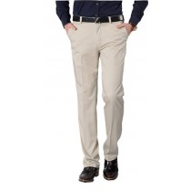 Plaid&Plain Men's Wrinkle-resistant Flat-Front Pants