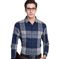 Plaid&Plain Men's Slim Fit Buffalo Plaid Shirt